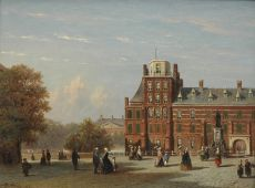 View of the Buitenhof in The Hague as seen from the Stadhouderlijk Kwartier by Petrus Gerardus Vertin