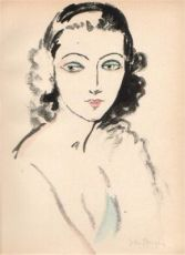 Portrait of a woman by Kees van Dongen