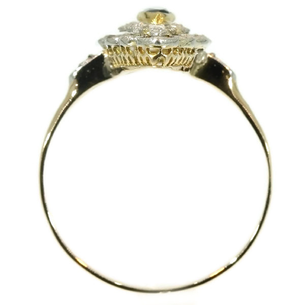Belle Epoque Art Deco diamond sapphire engagement ring by Unknown