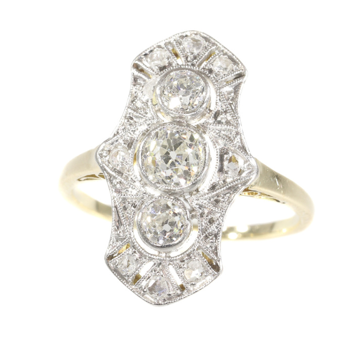 Original Vintage Belle Epoque diamond engagement ring by Unknown Artist