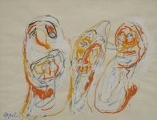 Trois clowns by Karel Appel
