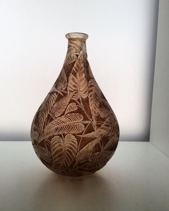 A beautiful 'Sauge' patinated vase designed by R. Lalique circa 1923 by René Lalique
