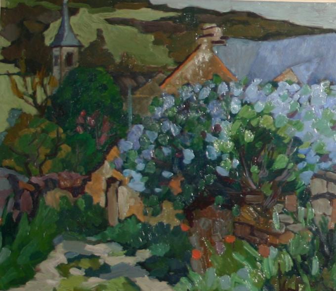 Dorp in de Ardèche by Kees Bol