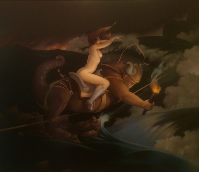 Taut Rope by Michael Parkes
