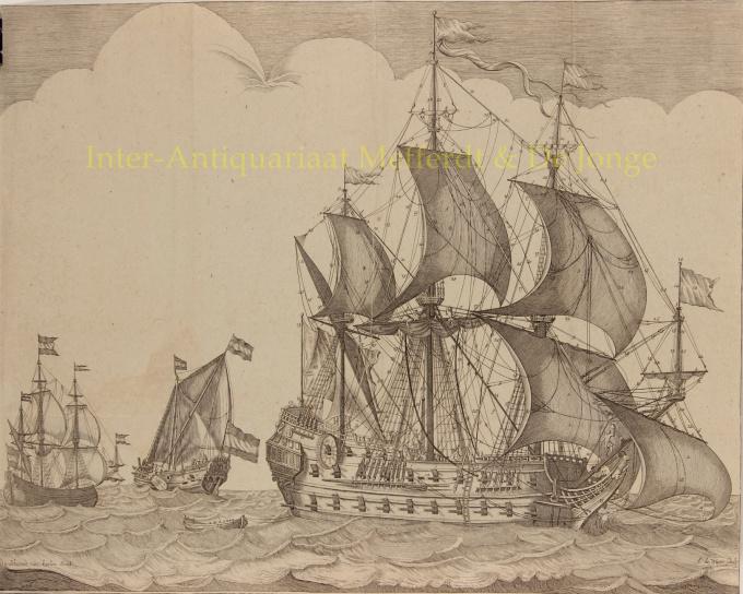 Oost Indië vaarder  by  Johannes van Keulen