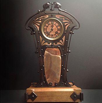 Art nouveau table clock by Unknown Artist