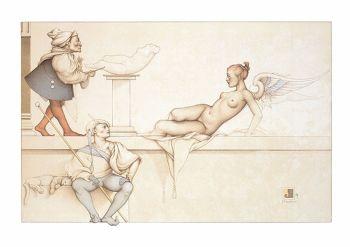 The sculptor by Michael Parkes