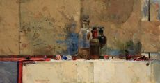 Still life with Three Bottles by Ben Snijders