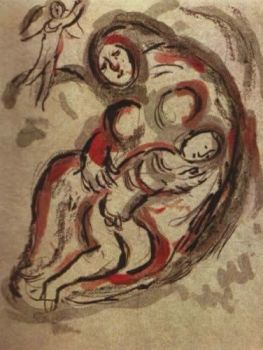 Agar dans le Desert by Marc Chagall