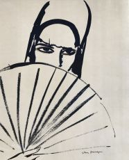 Woman with fan by Kees van Dongen