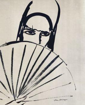 Woman with fan by Kees van Dongen