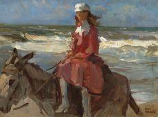 Donkey Ride Scheveningen by Isaac Israels