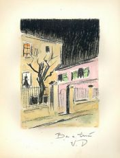 Lithograph Au Beau Temps de la Butte (Roland Dorgelès) by Kees van Dongen