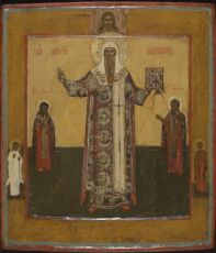 Central Russian icon: Saint Alexander Metropolite by Unknown Artist
