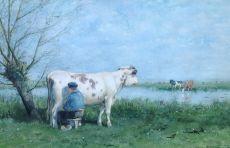 Milking time in the spring by Jan Vrolijk
