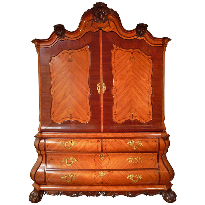 A Rare Louis XV Cabinet by Unknown Artist