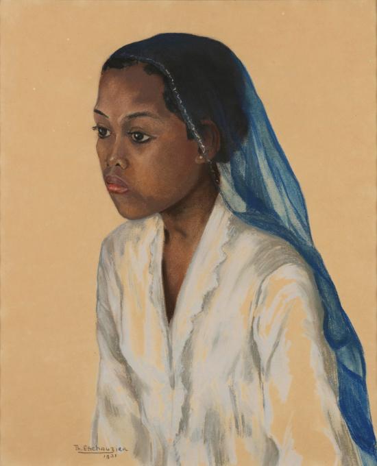 Portrait of a Javanese Girl by Thea G.F. Eschauzier