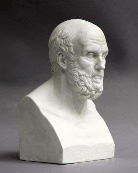 Sèvres bust Hippocrates, France by Unknown Artist