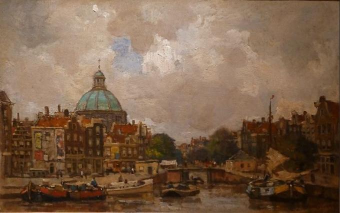 Townview Amsterdam, Koepelkerk -Singel- Amsterdam by Frans Langeveld