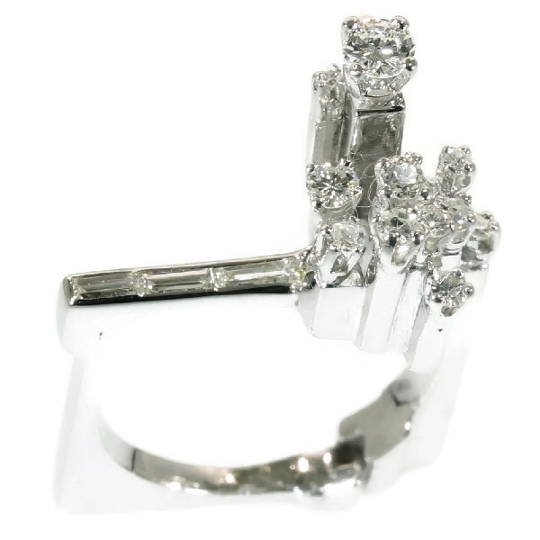 Platinum Singer Platinum: Strong Design Artist Jewelry French Platinum Ring With