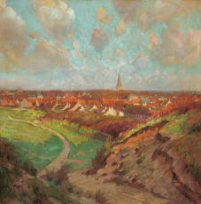 View on Domburg from 'Hooge Hill' by Joseph Posenaer