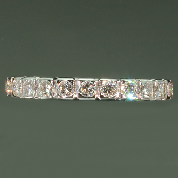 Estate eternity band white gold with 1.00 crt brilliant cut diamonds by Unknown Artist