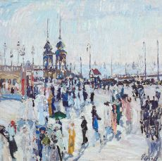 Boulevard of Scheveningen by Willem Paerels