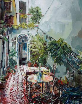 La Casita Original painting by Andrea Padovani