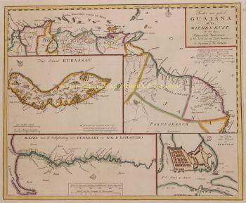 Curaçao - Guyana  by  Isaak Tirion