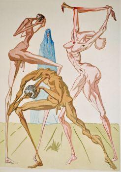 Divina commedia inferno 19 by Salvador Dali
