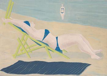 Sunbather by Ferdinand Erfmann