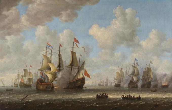 The Battle of Dungeness by Willem van Diest