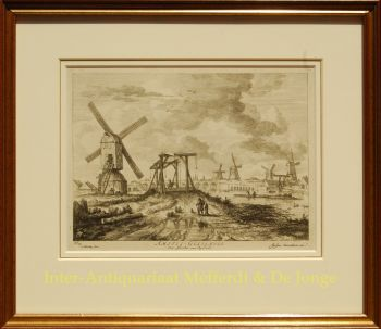 Amstel river views  by  Abraham Bloteling after Jacob van Ruisdael
