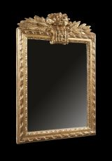 A giltwood French mirror