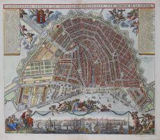 Map of Amsterdam, ca.-1725 by Keulen, Gerard van Keulen