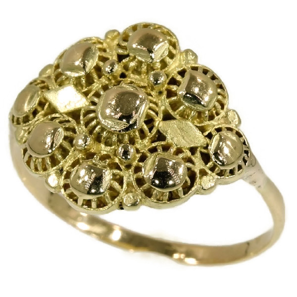 Antique filigree ring by Unknown Artist