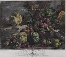 A Fruit Piece , mezzotint print my by Josiah Boydell by Boydell, John (1720-1804)
