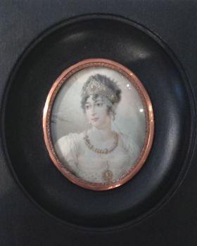 Portrait miniature of Caroline Bonaparte by Unknown Artist