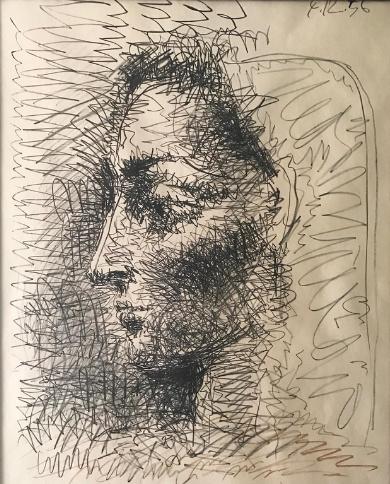 A wonderful lithograph 'portrait of Jacqueline' by Pablo Picasso by Pablo Picasso