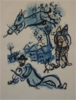 In the Village by Marc Chagall