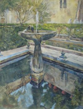 Fountain in Granada, Spain by Gerard Muller
