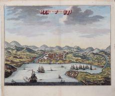 RARE 18th CENTURY VIEW OF MANILA    by Jan van Braam