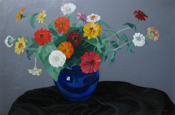 Flower still life by Dirk Smorenberg