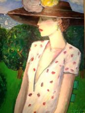 Standing Lady by Jean Pierre Cassigneul