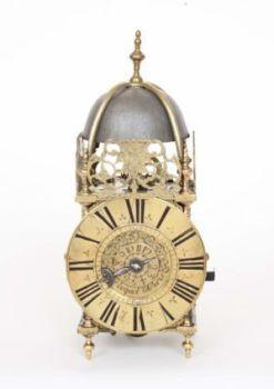 A small French Regence brass lantern clock, G. Pecquet A Paris, circa 1720. by G. Pecquet A Paris