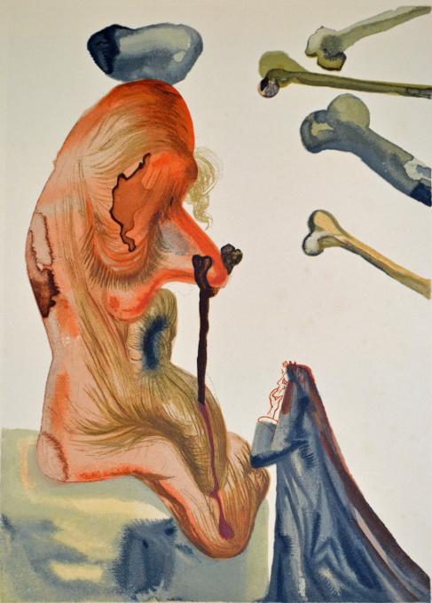 Divina commedia inferno 18 by Salvador Dali