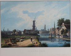 Utrecht seen from de Oude Rijn  by  Louis Bleuler