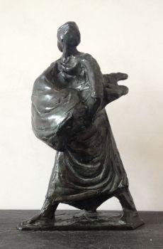 Fleeing woman by Nel van Lith