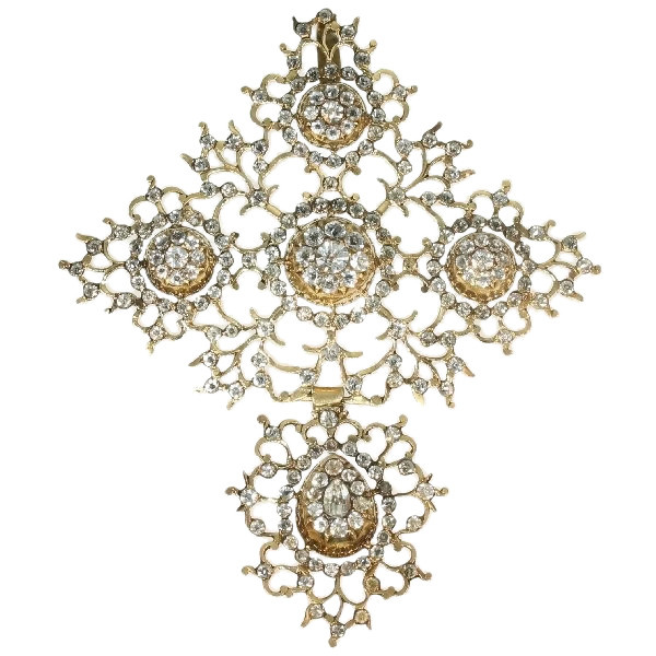 French antique gold Normandic cross Georgian period by Unknown Artist