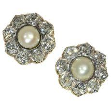 Antique Victorian diamond ear studs